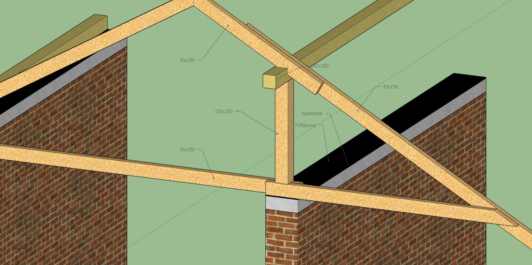 Двухскатная крыша дома своими руками. ГЛАВНАЯ