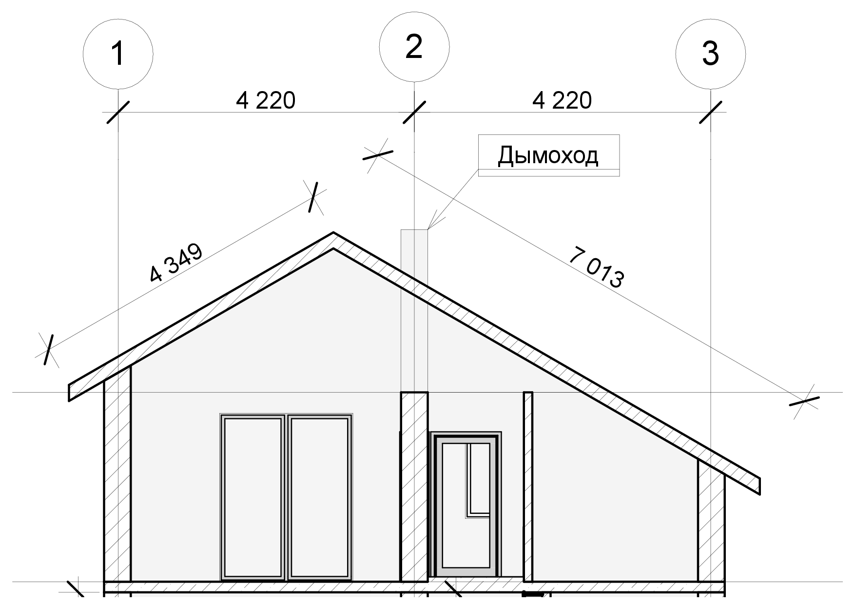 Стропильная система двухскатной крыши расчет, монтаж, установка 66