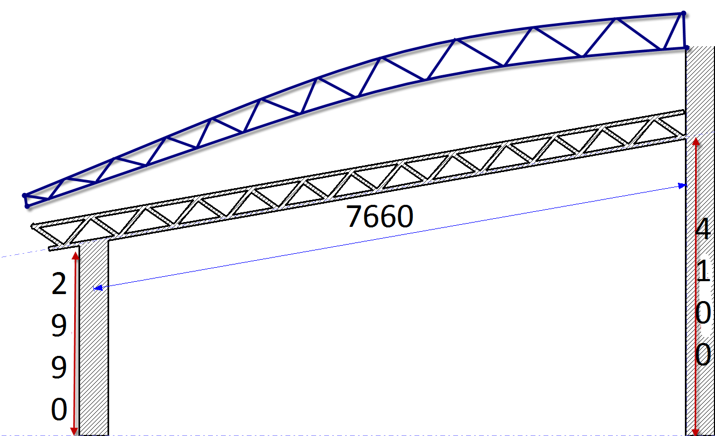 Как сделать односкатный навес из 32