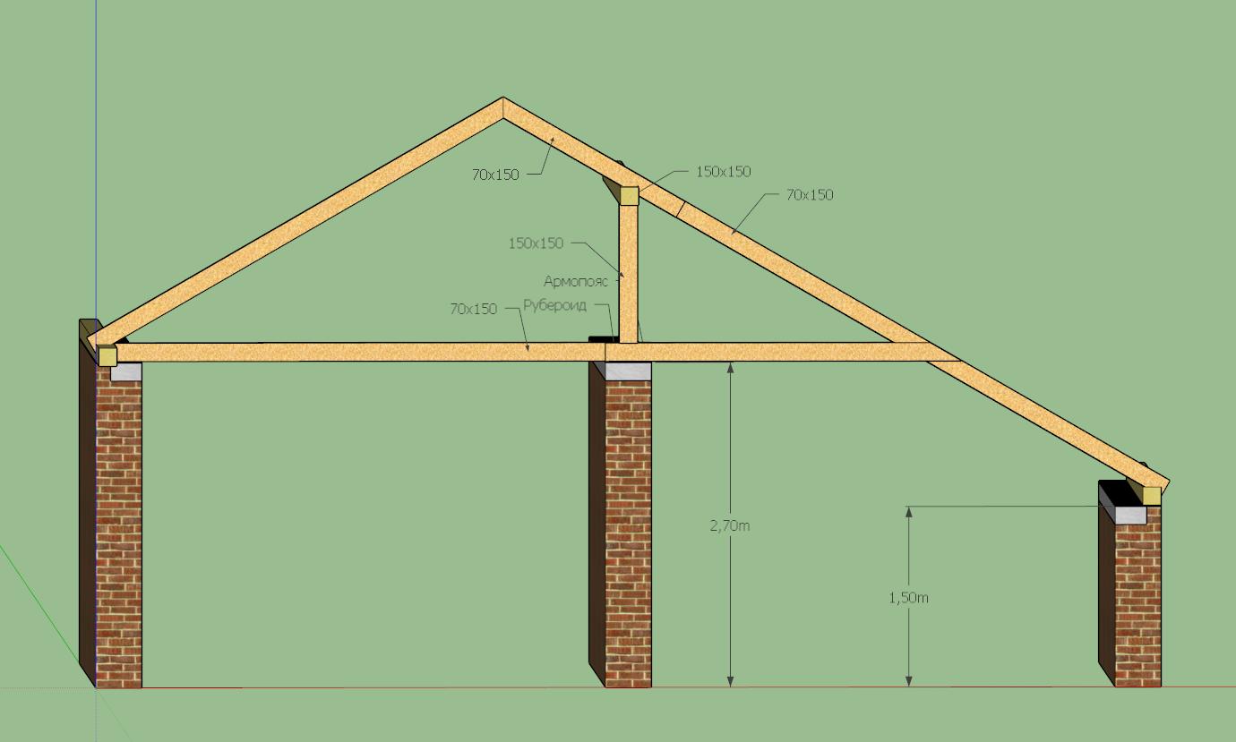 Как сделать крышу с мауэрлатом 685