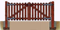 Как сделать распашные деревянные ворота своими руками