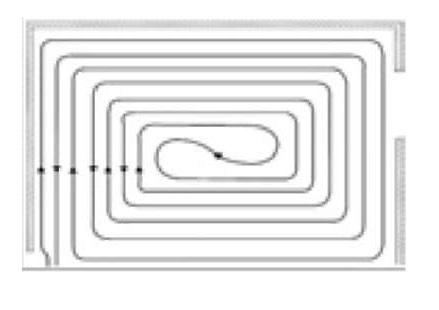 Схема укладки труб спиралью