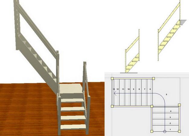 Лестница на второй этаж г-образные своими руками